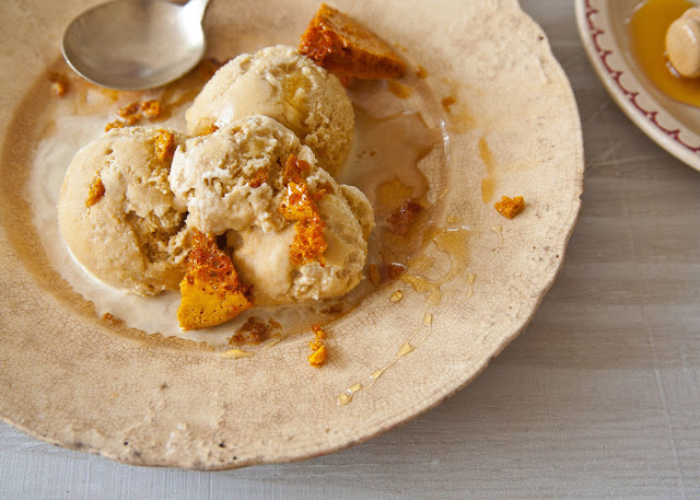 Honey comb ice cream