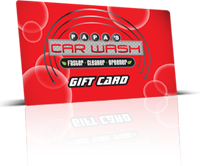 $40 Gift Card includes Free Wheel Wash Car Wash with purchase!