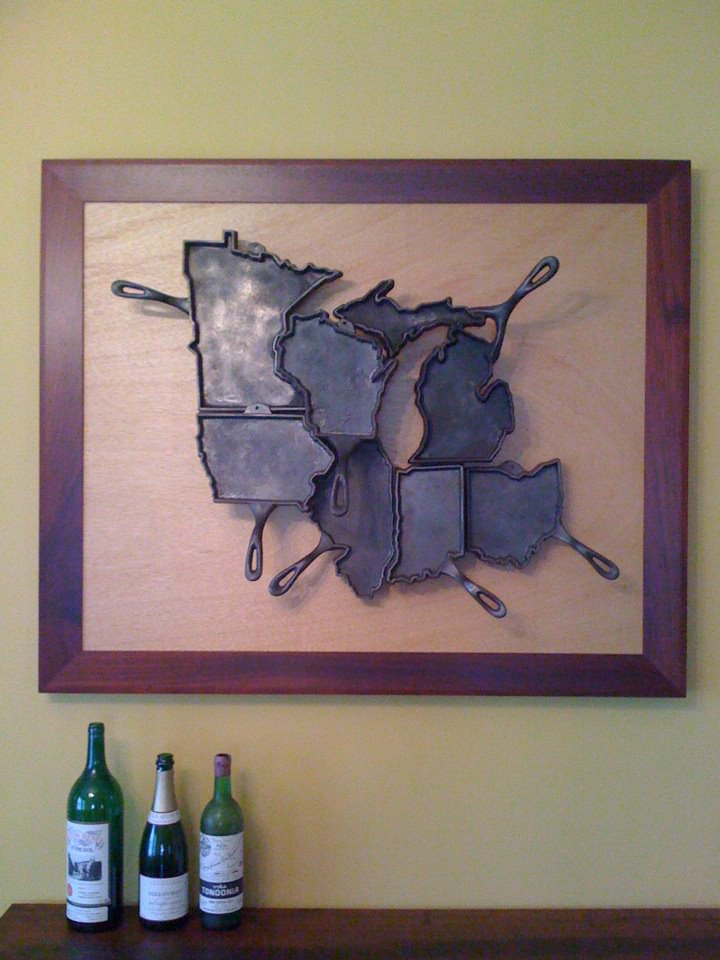 """The Midwest"" hanging in it's new home in Milwaukee. Photo courtesy Jill Ponasik."