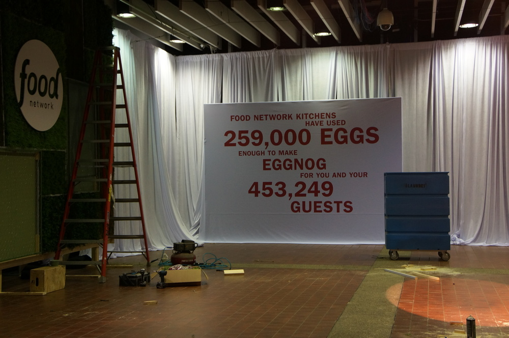 There were loads of interesting facts about the Food Network that they made into large signs that night.