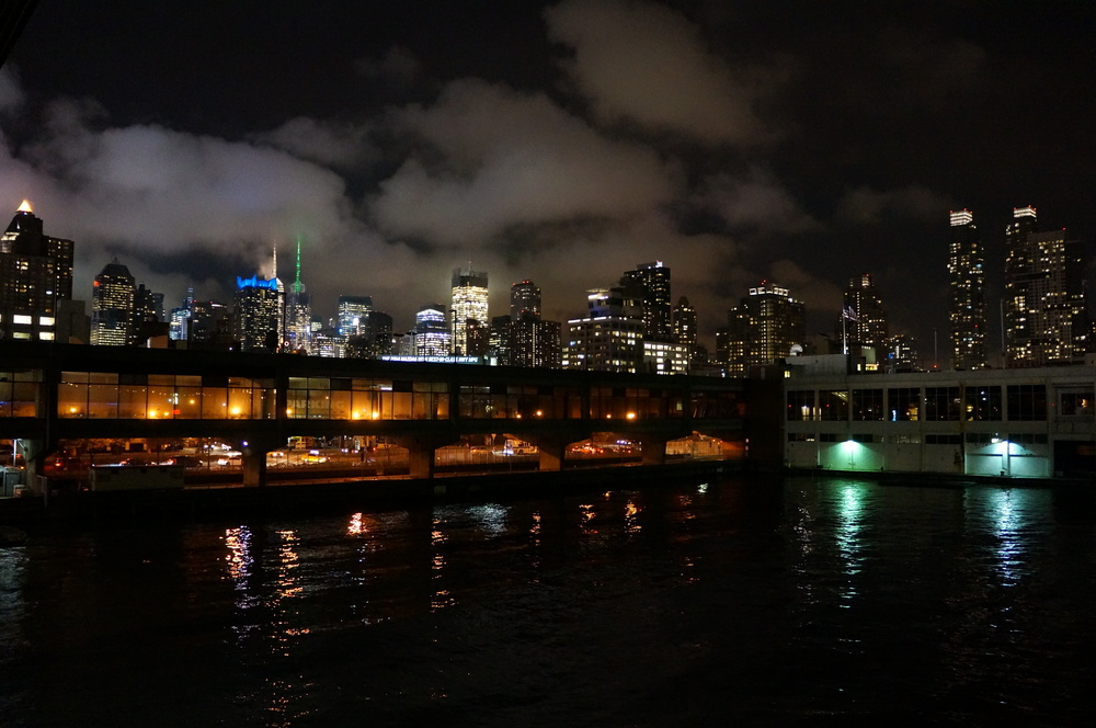 A night to never be forgotten. It was awesome weather on the Pier of Manhattan the night of our install. Surreal !