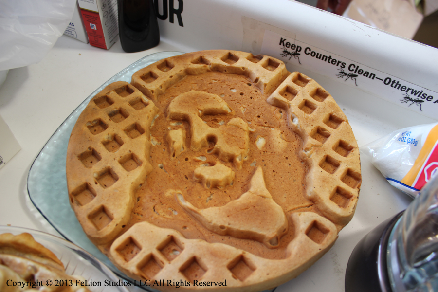 Just Jesus waffle on counter.jpg