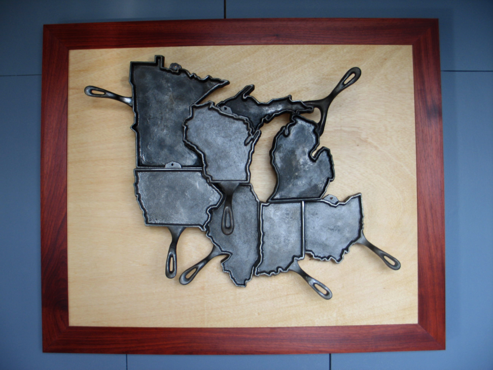 """The Midwest"" was completed in 2010 for the Fine Furnishings show in Milwaukee, at the Harley Davidson Museum."
