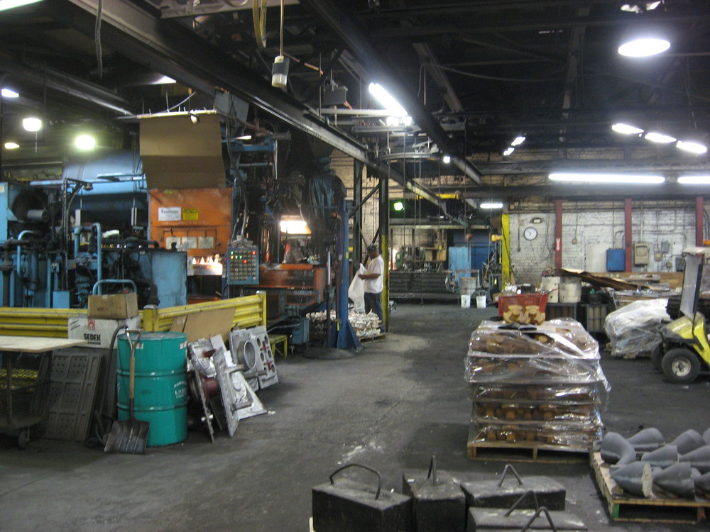 This is where we'll be working for 8-10 hours a day with John Poole, our friend who works at Smith Foundry.