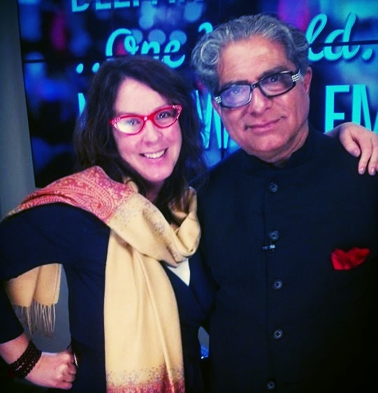 "On the set of ""One World with Deepak Chopra"""