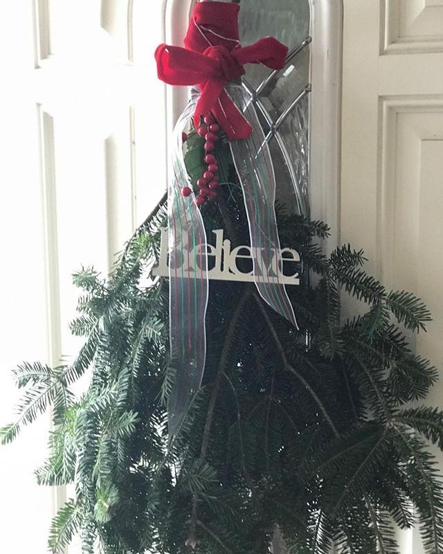 Merry Christmas! My homemade door wreath!