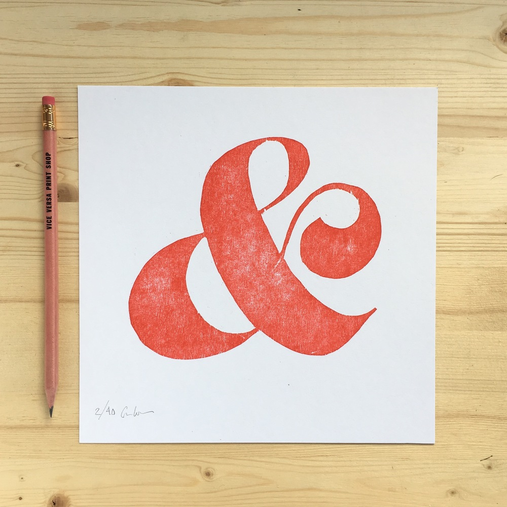 Ampersand Woodcut