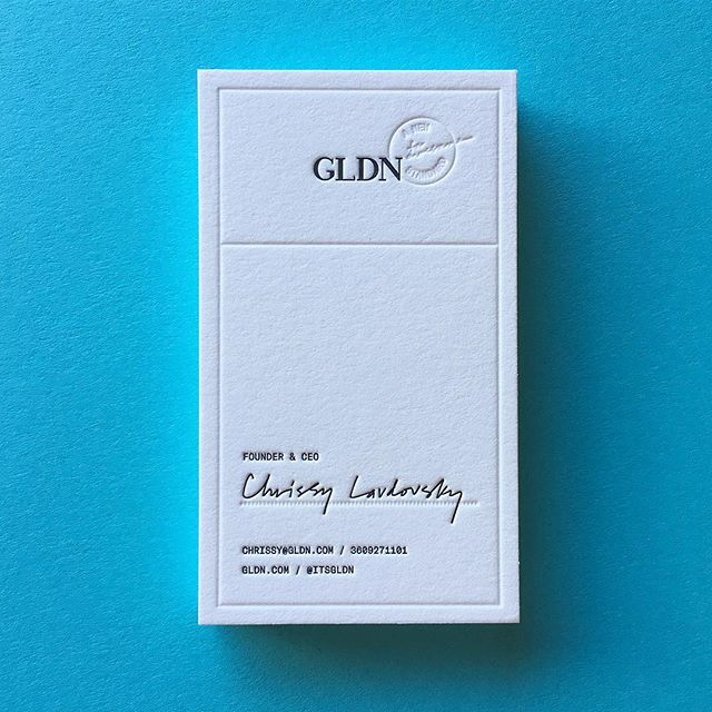 What's on press: 2-color cards for the wonderful @itsgldn!