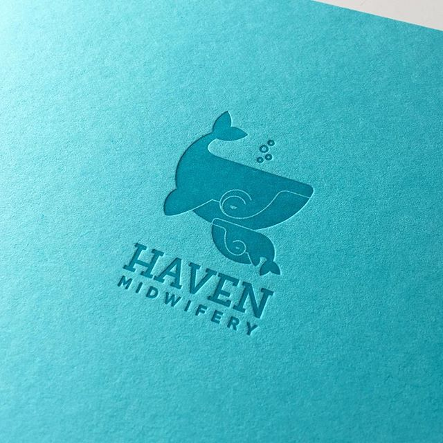 Blue on blue for @havenmidwifery pocket notebooks. 🐳