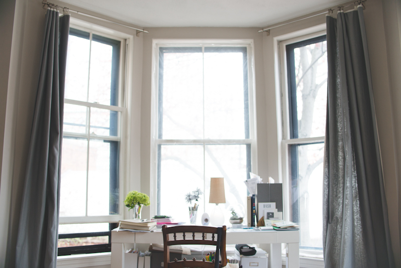 When I'm not at my shared office space on Newbury Street, this is where the magic happens. Set up a home office thats comfortable and well-light. I am lucky to have a view of Back Bay.