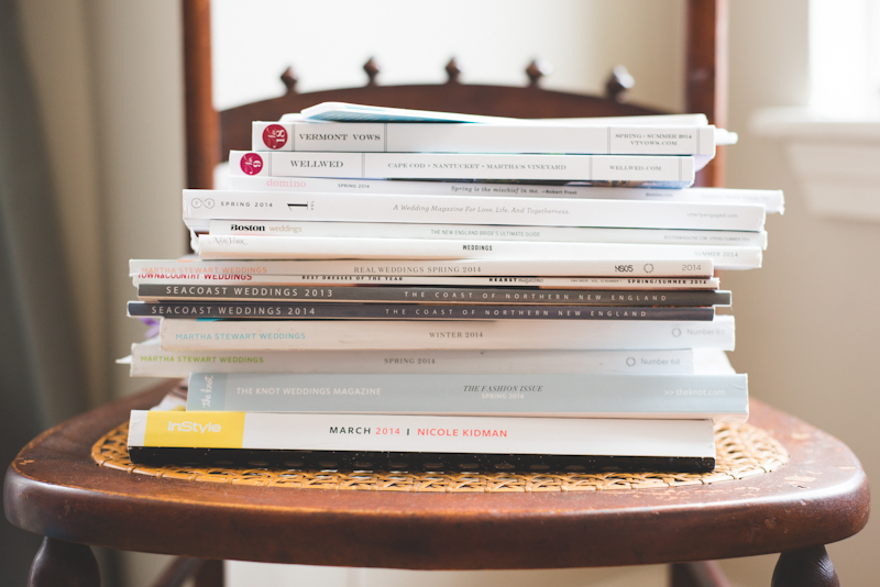 My magazine stacks are out of control! I like to flip through pages, discover news trends and products, and constantly be inspired.
