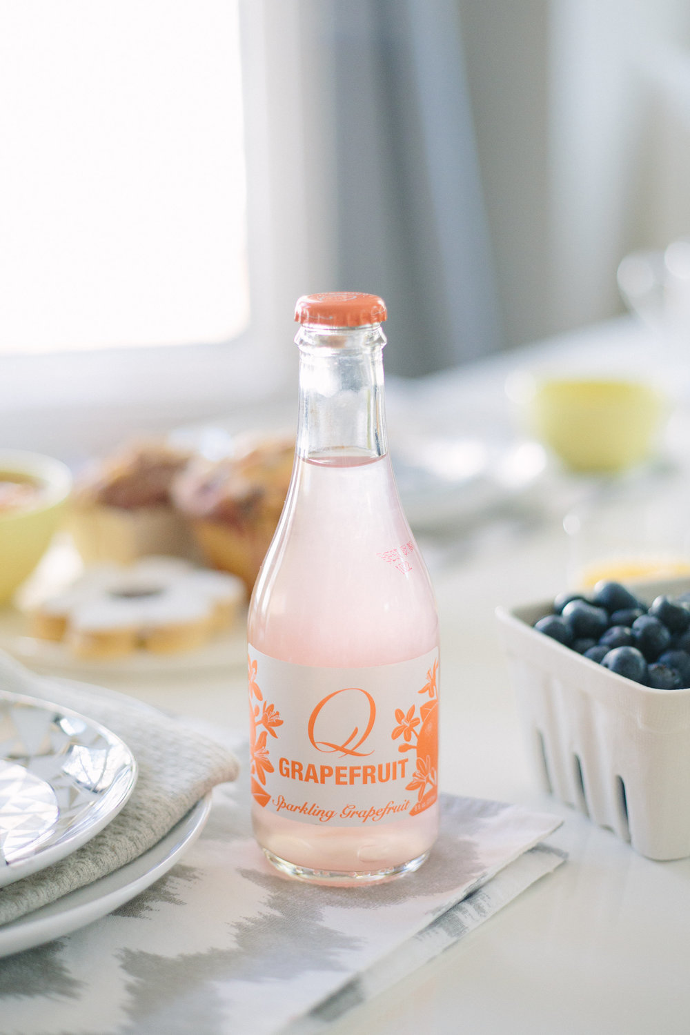 These pretty petite soda bottles from Q Drinks had a splash of color!