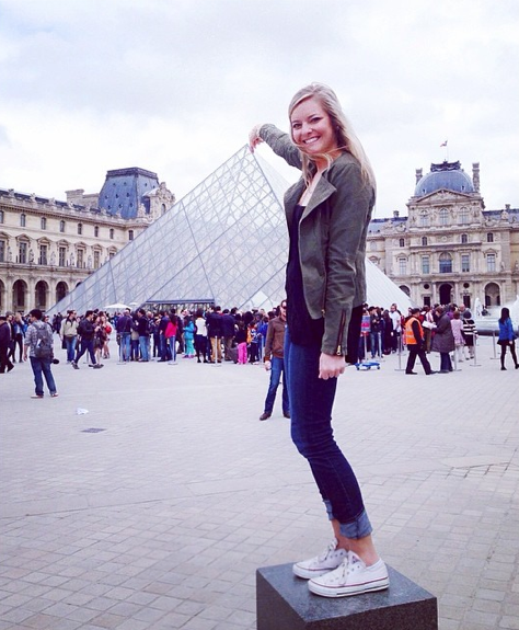Standing tall with the Louvre!