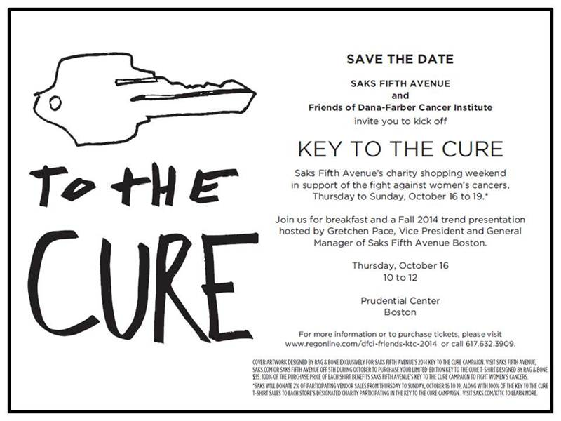 This year the Key To The Cure logo was designed by Rag & Bone.