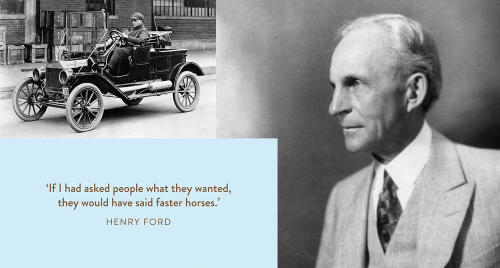 Henry Ford, and a driver of the first Model T