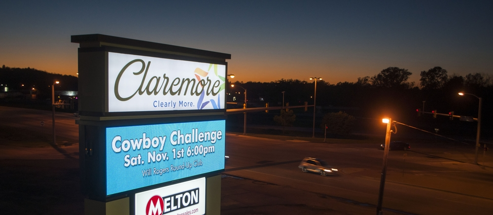 Claremore's Recently Updated Gateway Signage