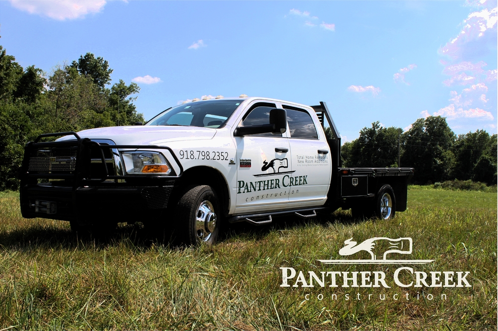 PANTHER CREEK CONSTRUCTION // FLEET VEHICLE GRAPHICS Logo & Identity Design Illustration BRANDING