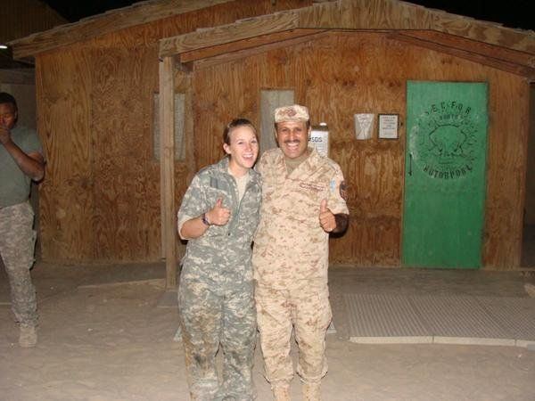 Jenni Bruner's Door Mural While Deployed to Camp Buehring, Kuwait - 2007