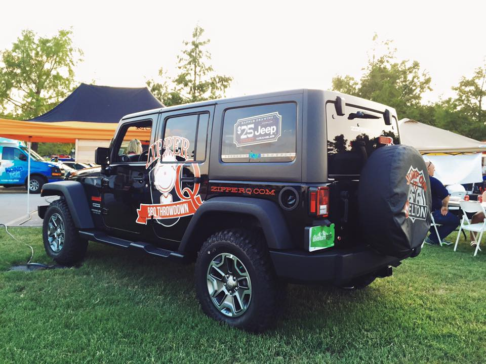 ZipperQ JEEP GIVEAWAY // VEHICLE GRAPHICS   PROMOTIONAL GRAPHICS PARTIAL WRAP