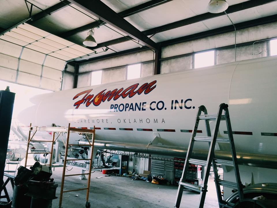 FROMAN PROPANE // FLEET VEHICLE GRAPHICS   TRAILER GRAPHICS IDENTITY