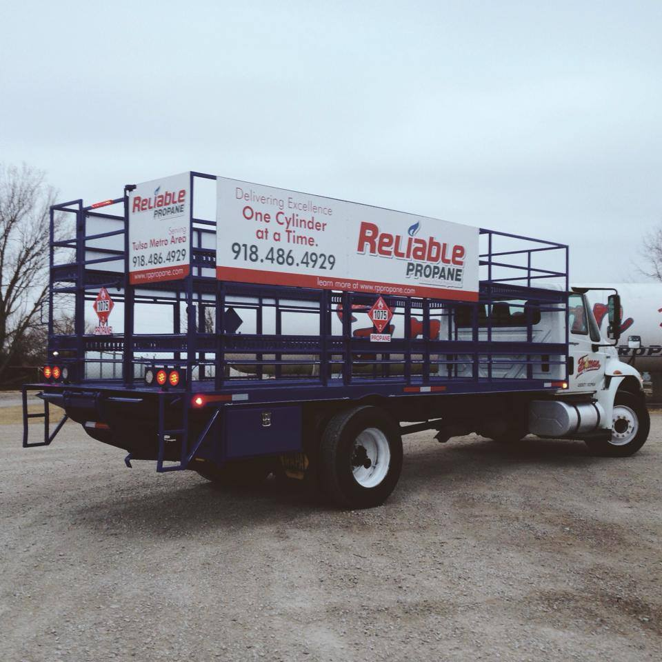 RELIABLE PROPANE // FLEET VEHICLE GRAPHICS ALUMINUM SIGNAGE BRANDING
