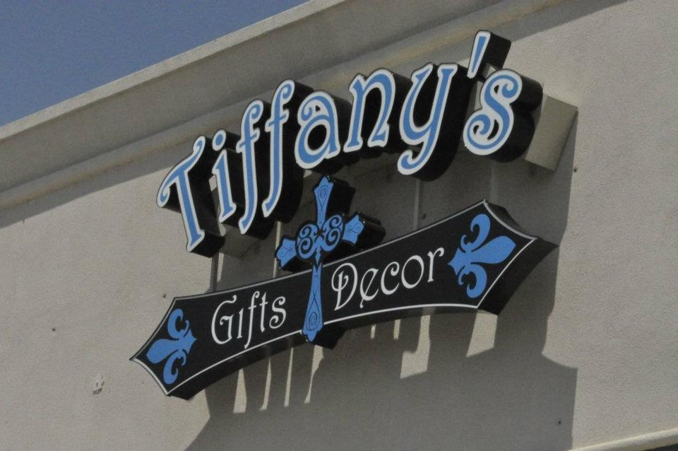 TIFFANY's GIFTS & DECOR // CHANNEL LETTER + CAPSULE   WALL SIGN IDENTITY SIGN LED LIGHTED