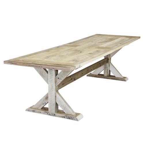 Barn Wood Trestle-Style Dining Table €  Walton Woodcraft - Reclaimed Wood Trestle Dining Table WB Designs