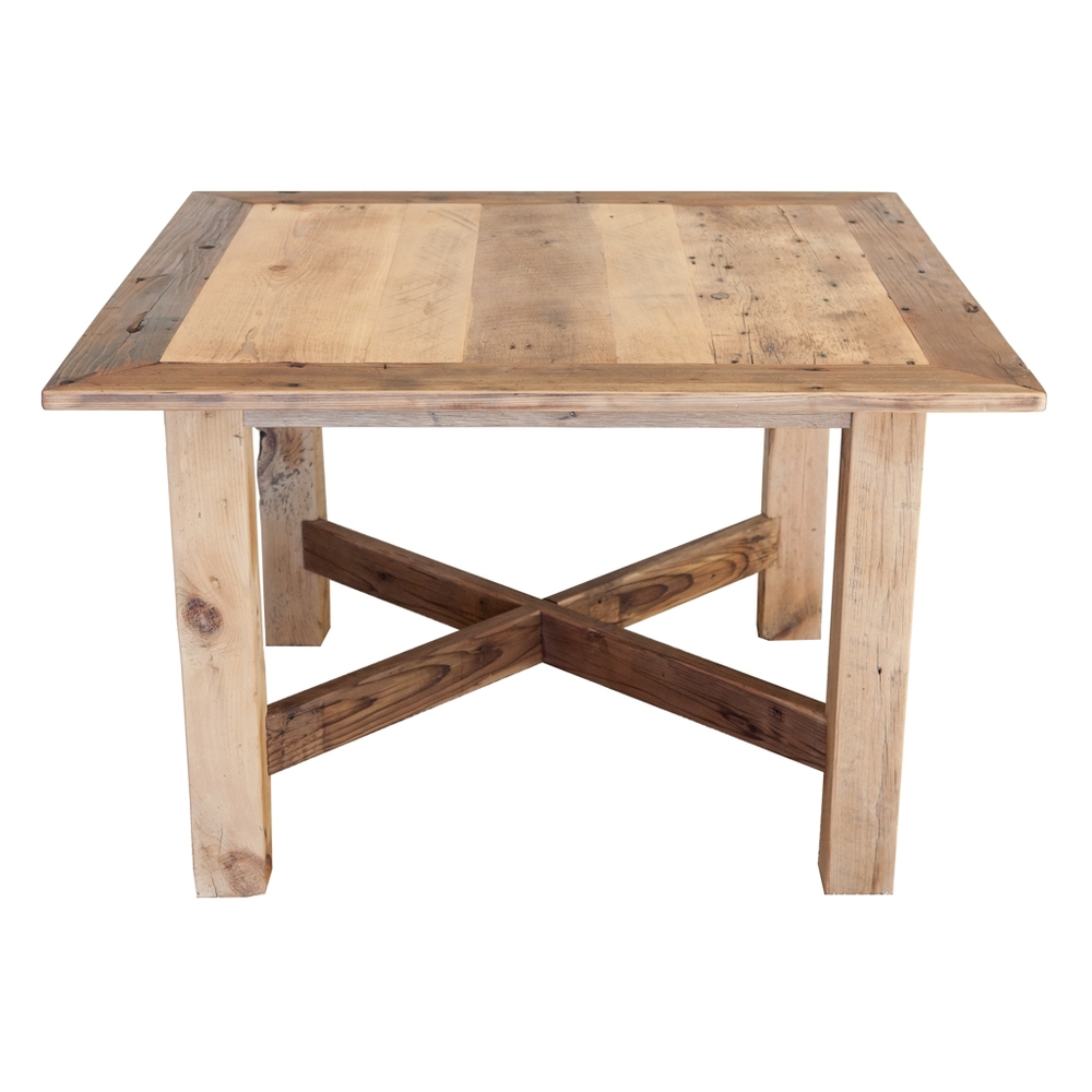 reclaimed barn wood bistro table