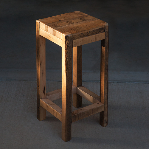 Reclaimed Barn Wood Stool - Reclaimed Barn Wood Stool €� Walton Woodcraft