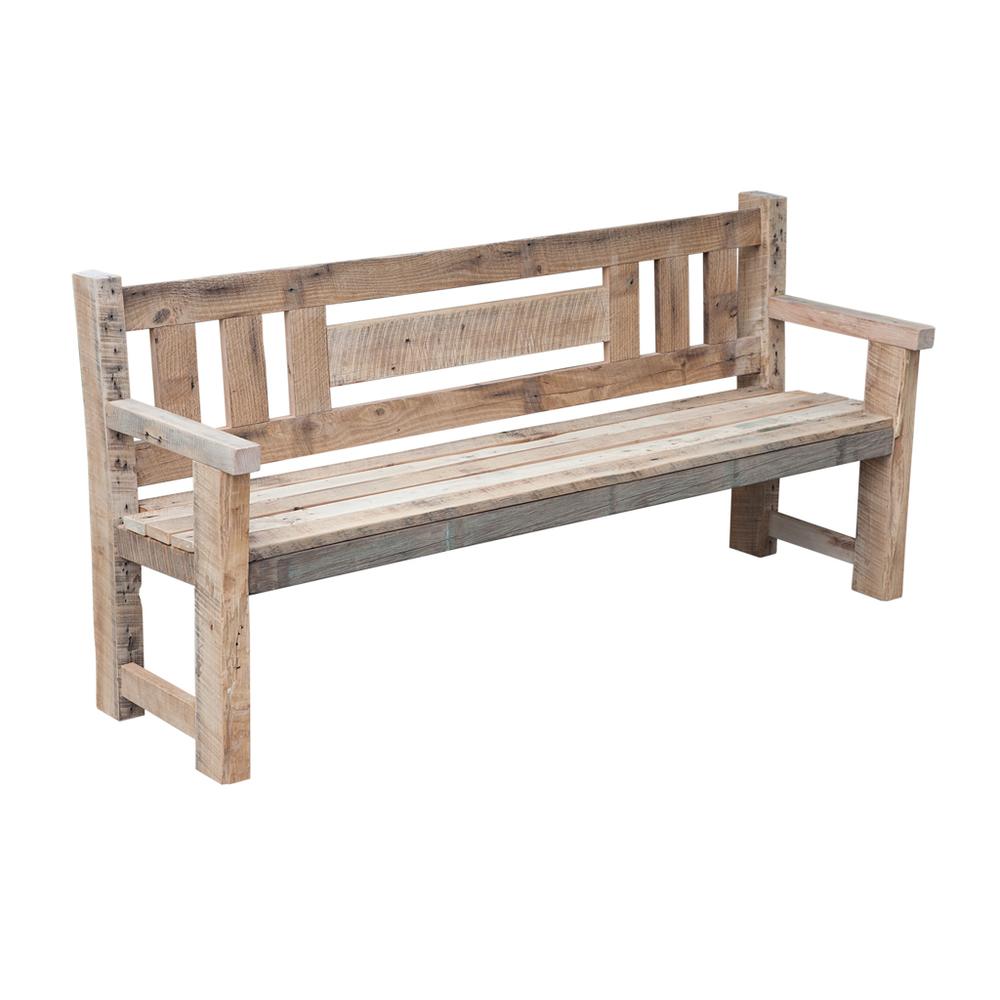 rustic reclaimed barn wood garden bench.jpg