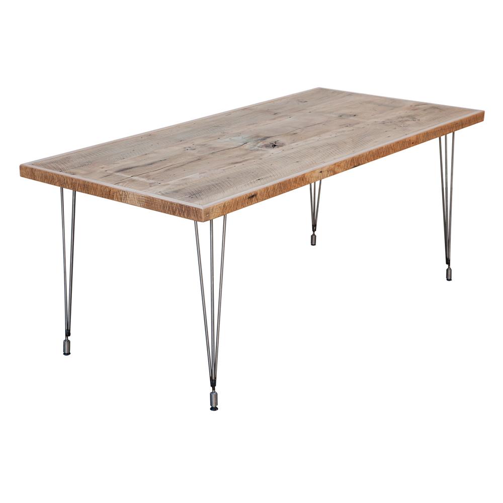 Reclaimed wood and hairpin leg table- Handmade in California ... Reclaimed  Wood And Hairpin Leg Table Handmade In California