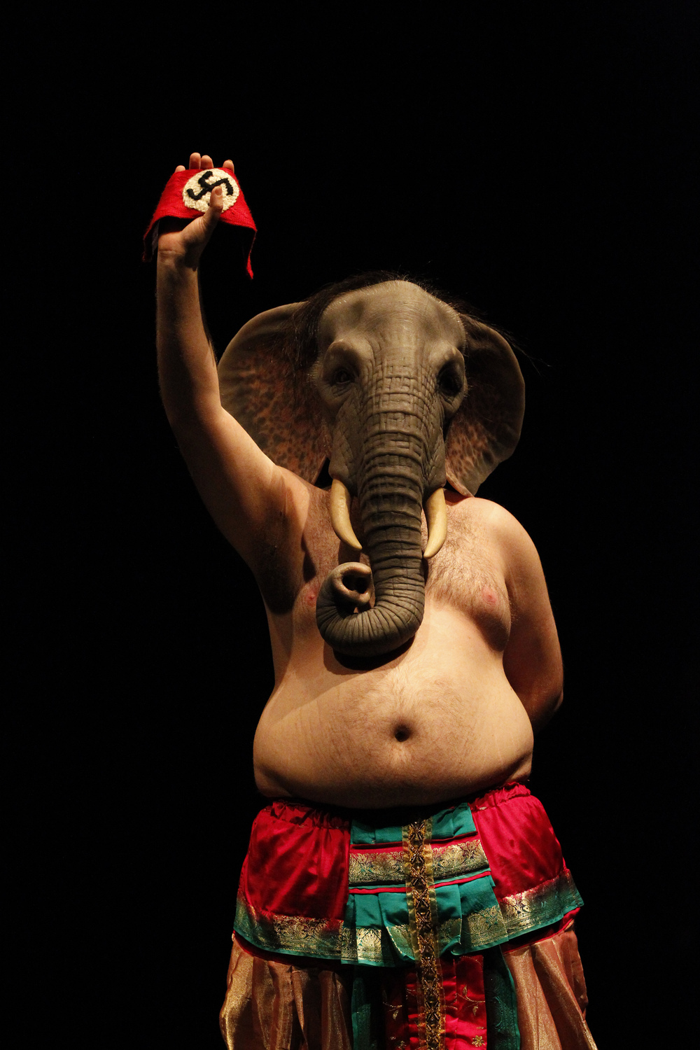 Last seen at UTR 08 with  small metal objects , Back to Back returns to UTR with a beautiful and disarming production, full of vulnerability. The story begins with the elephant-headed god Ganesh's travels through Nazi Germany to reclaim the Swastika, an ancient Hindu symbol. As the hero embarks on his journey a second narrative is revealed: the actors themselves begin to feel the responsibility of storytellers and question the ethics of cultural appropriation. One of Australia's most respected theatre companies, Back to Back Theatre has developed a global reputation for its unique ability to present the issues of our times with a distinct outsider focus.   Photo Credit: Jeff Busby