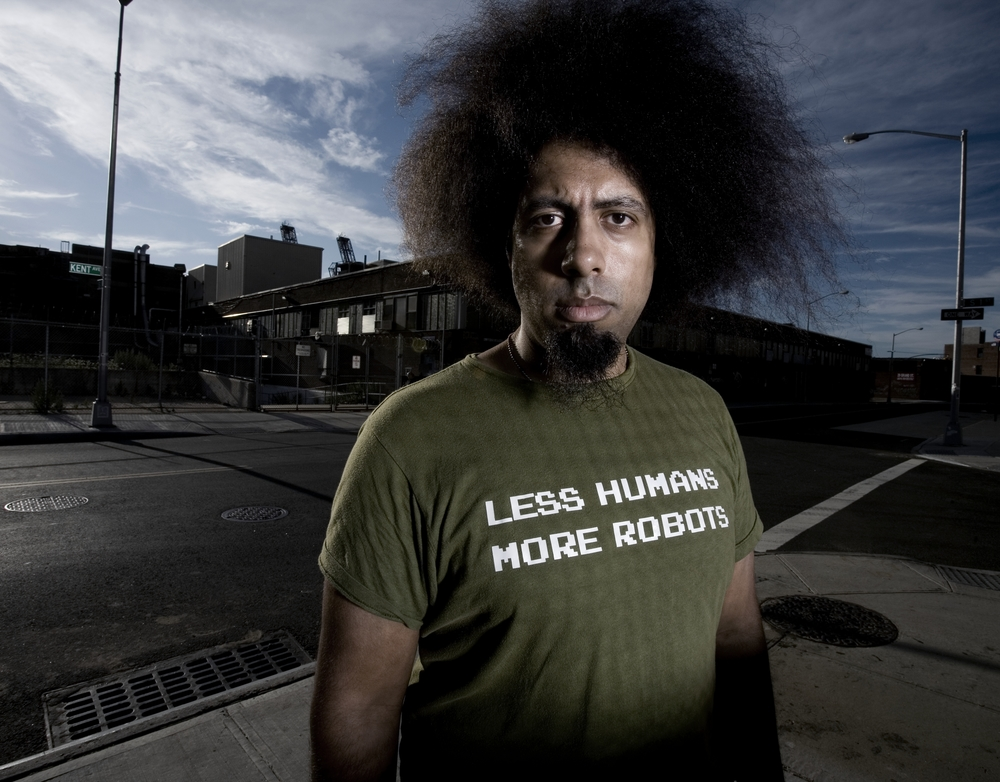 Anthropological humorist Reggie Watts utilizes the latest in presentational technologies to comment on humanity's refusal to accept an eventual global shift towards unimaginable destruction. A mélange of absurdist storytelling, video imagery, geometric movement sequences and spontaneous musical compositions,  Disinformation  is a comedic hilarious conceptual deconstruction of the human need to understand itself.   Photo Credit: Noah Kalina