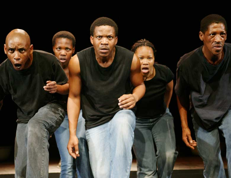 A dramatization of the real life stories of five young people growing up in the tough and impoverished world of the South African townships during Apartheid. Interwoven with dance and song, this show is a celebration of the capacity of the human spirit to rise above the effects of poverty and violence. Photo courtesy of the artist