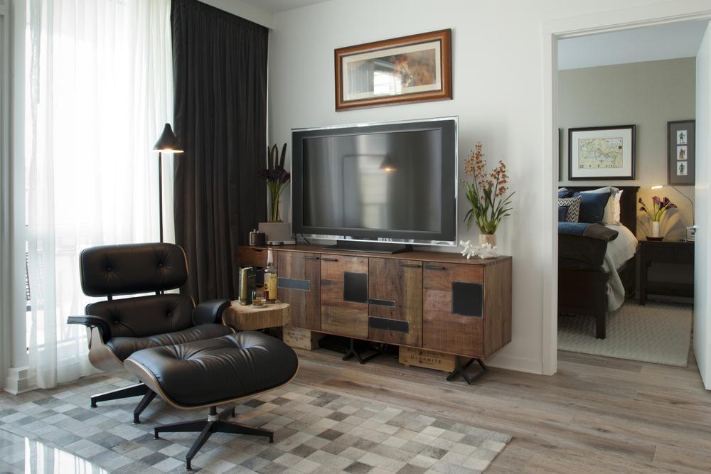 Living room bachelor pad san francisco