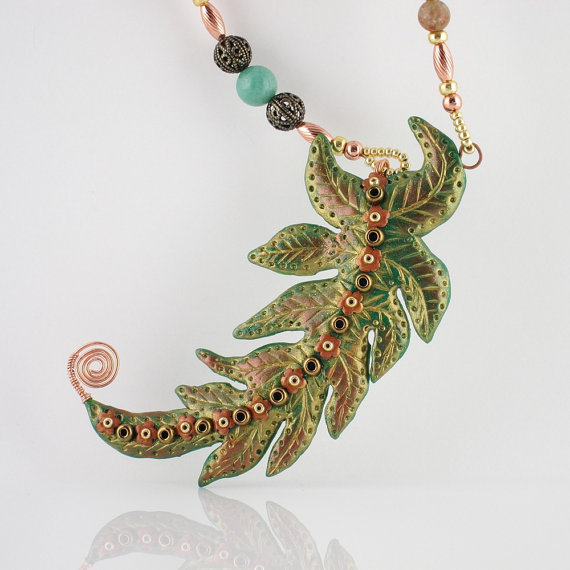 Fern Flower Pendant
