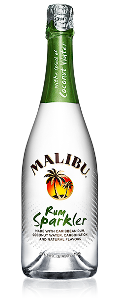 Malibu® Rum Sparkler combines MALIBU with the freshness of coconut water, and infuses them with refreshing bubbles.