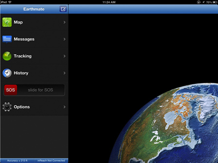 """DeLorme inReach Free """"Earthmate"""" Software App for Apple/Android Smartphones & Tablets."""