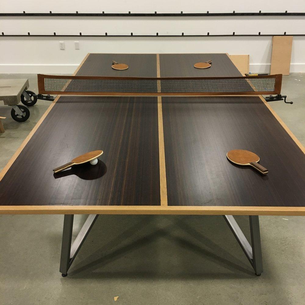 Custom Ping Pong Table FRED ELLIOTT DESIGNS - Designer ping pong table