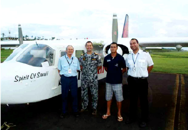 Samoa Air aircraft about to depart Faleolo to conduct a maritime patrol of Samoa's EEZ.