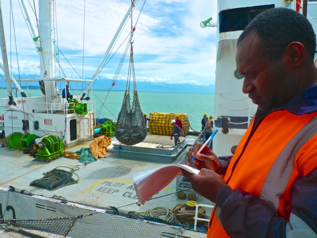 Roger learned many of the realities of fishing as an observer for 4 years, and he applies that today as a Compliance Officer in PNG.