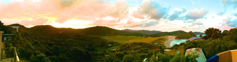 The place I call home at this time of the year with my family, Awana in Great Barrier Island (Aotea) in NZ