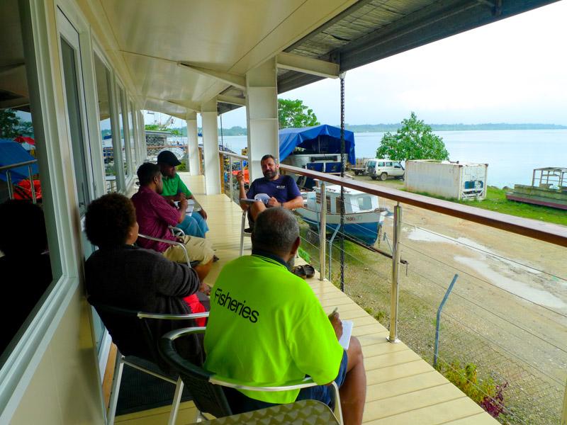 Training at NFD's balcony