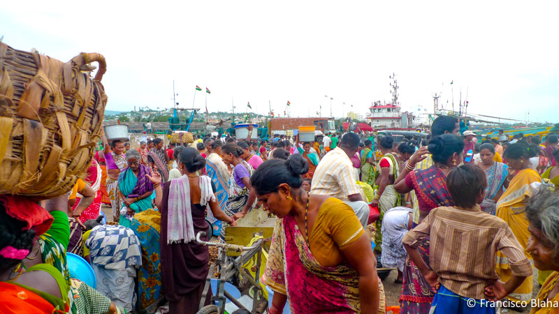 Fish sellers in Vizag (India)