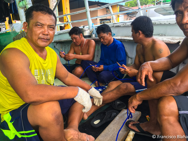 Foreign crew on a Taiwanese Longliner in Koror (Palau)