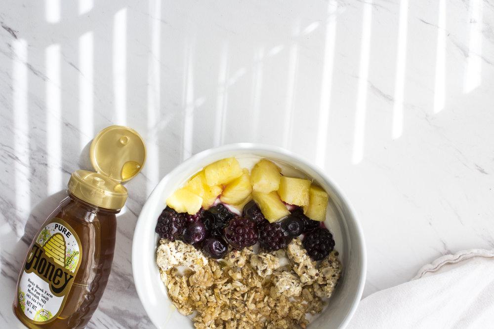 Food Styling Breakfast Honey Bowl