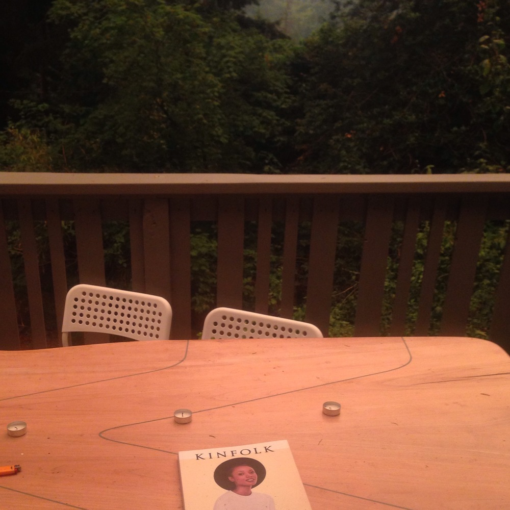 Our deck, without a photo filter. The forest fire orange hue glows under the morning sun.