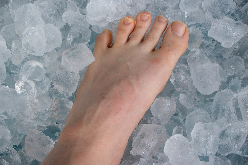 Icing a foot and ankle injury