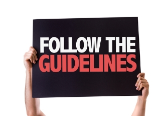 Follow the guidlines