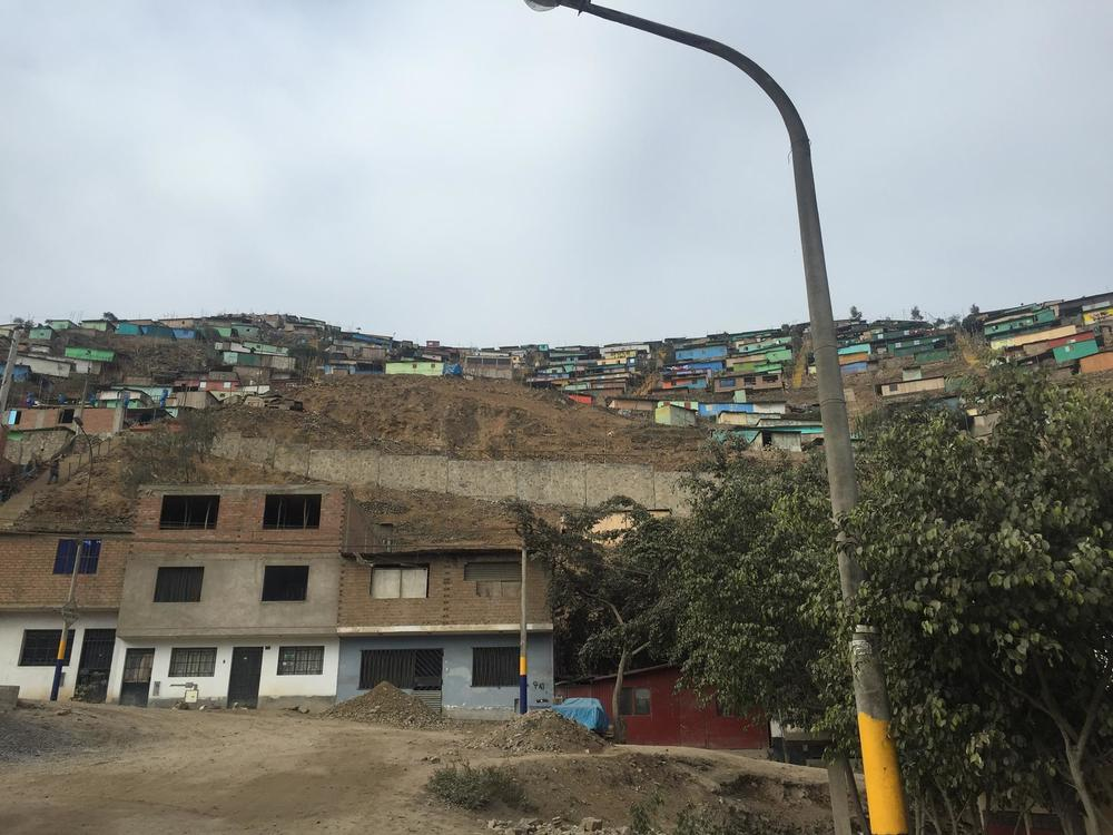 Another view up the hill. Many of the people we treated came all the way down with their small children to receive care.